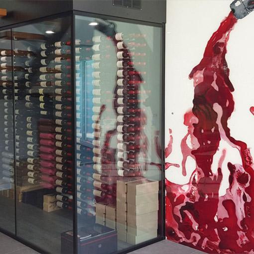 Modern Custom Art Wine Cellar