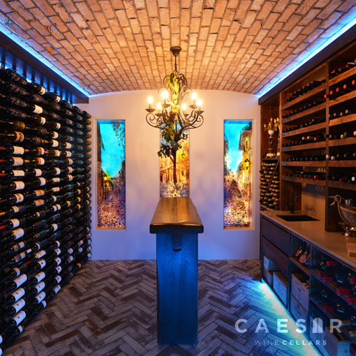 Traditional Inspired Wine Room