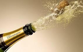 Champagne Bottle splashing