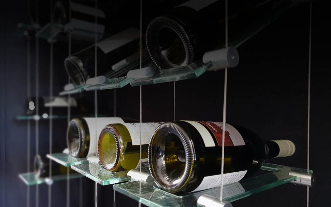New Glass Wine Room Designs – Floating Glass Wine Displays