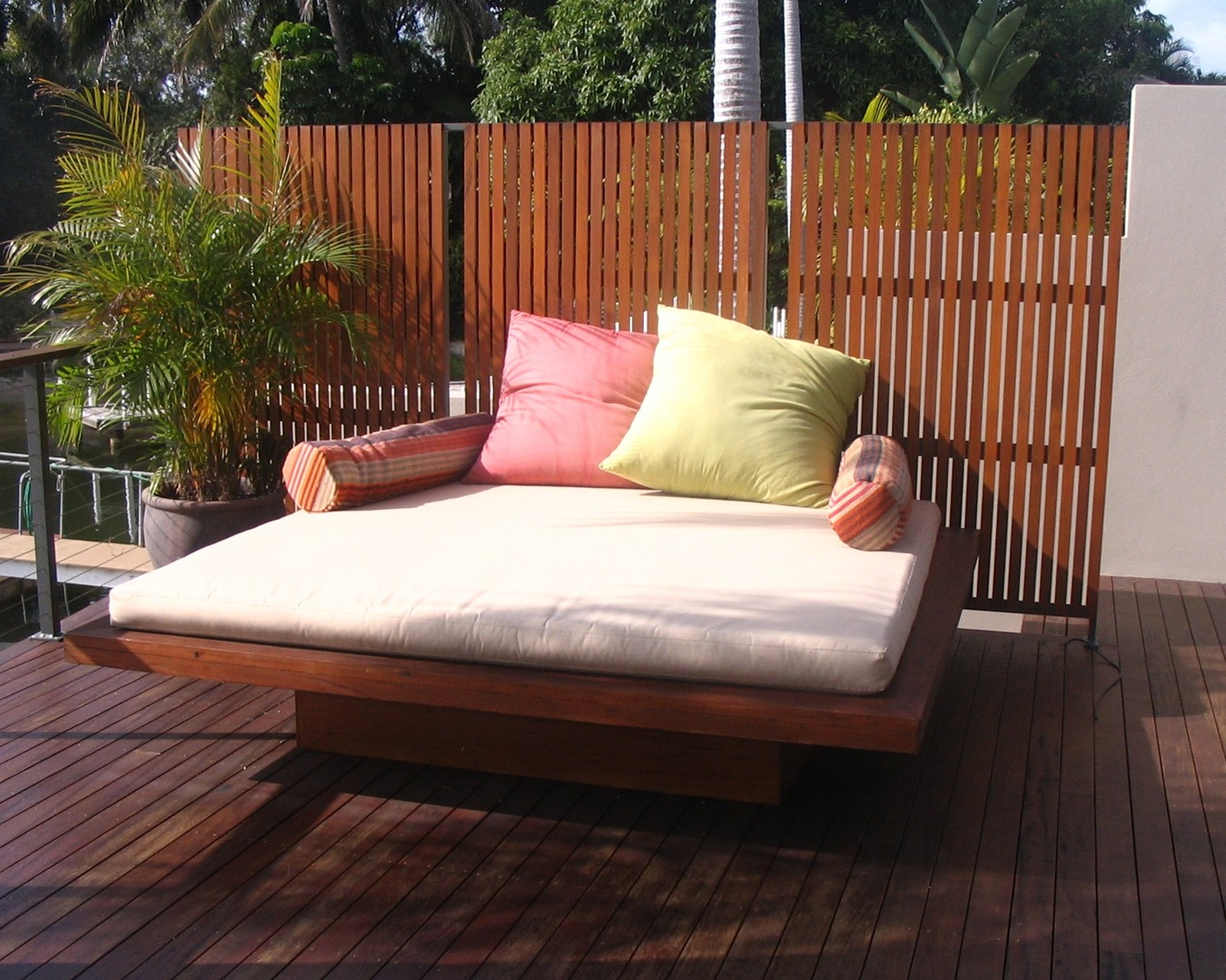 Day bed made from recycled furniture from tongue n groove furniture